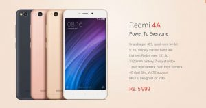 xiaomi redmi 4a review AND SPECIFICATIONS