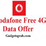 Vodafone free 4G data offer