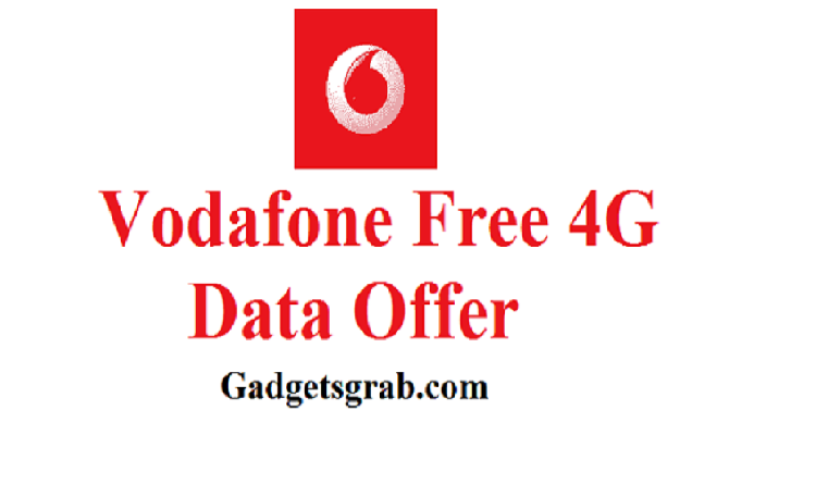 Vodafone free 4G data offer