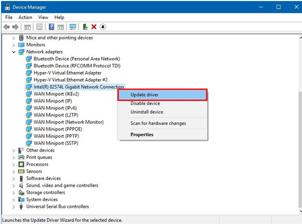 update windows 10 device driver manually